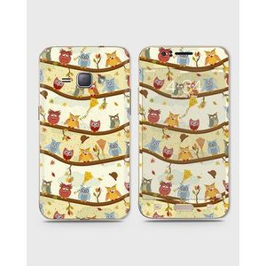 Samsung Galaxy J1 2015 (J100) Skin Wrap With Front Back And Sides Party Eulen-1Wall577
