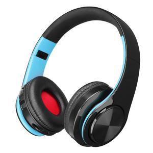9c3ad9f7488 Wireless Bluetooth Foldable Headset Stereo Headphone Earphone for iPhone  Samsung Blue