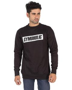 Black Fleece Sweatshirt For Men