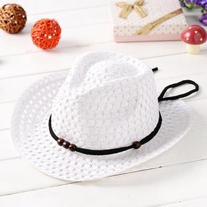 Summer Baby Cowboy Straw Hats for Children Summer Beach Sun Hat Caps