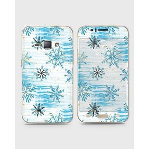 Samsung Galaxy J1 2015 (J100) Skin Wrap With Front Back And Sides Snow Flakes Pattern-1Wall573