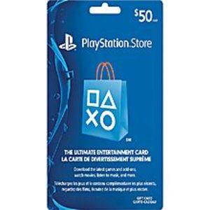Sony$50 Playstation Store Gift Card - US Region