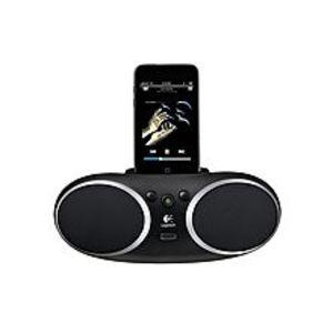 LogitechS135i - Portable Speaker Dock with Aux Port- Black
