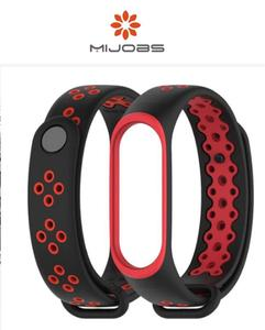 Sports Strap For Mi Band 3 (Black & Red) by MiJobs + FREE Screen Protector