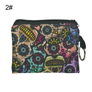 Retro Flower Record Player Print Lady Coin Purse Wallet Oxford Fabric Clutch Bag