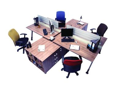 Cubical Workstation - WT-G-S1 - Chocolate