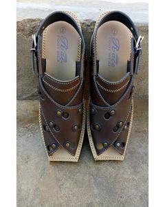 Artifical Leather Peshawari Sandals For Men