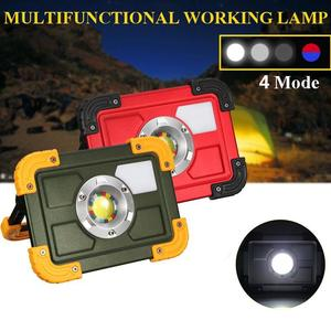 30W USB LED Portable Rechargeable Flood Light Spot Camping Outdoor Garden Lamp Green