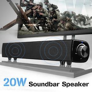 20W Bluetooth Soundbar Speaker Sound Bar TV Home Theater Subwoofer For Laptop PC