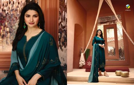 Vinay Fashion Silk Designer Dress with Heavy Diamond Work