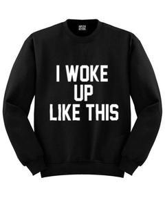 Black Fleece Printed Sweatshirts For Women