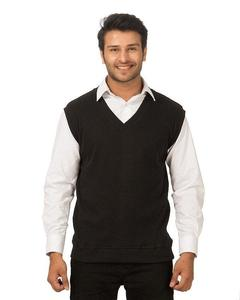 Black Cotton & Wool Sweater for Men