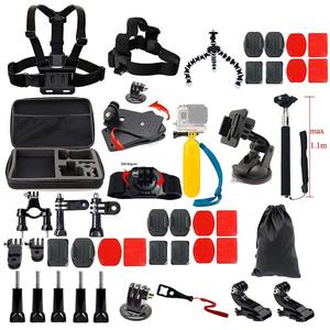 45pcs Camera Accessories Cam Tools for Outdoor Photography Cameras Protection Tool Set for Gopro Hero 5/Session/4/3/2/HD/LCD Black Silver Cameras