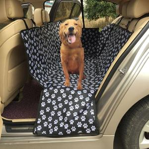 Oxford Car Pet Seat Covers Paw Pattern Waterproof Back Bench Mat