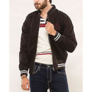 Denizen Black Cotton Er Jacket For Men