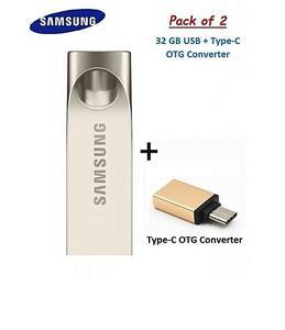 32Gb Usb Flash Drive + Type-C Otg Converter
