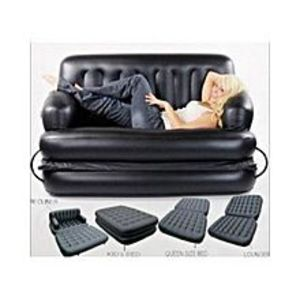 Buy Anything  5-In-1 Inflatable Sofa Cum Bed