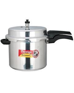 Aluminum Deluxe Plus Induction Base Aluminium Pressure Cooker 12 Liter, Silver Mpd10705
