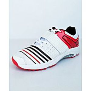 BEST OFFERS Red And White Cricket Gripper Shoes For Men