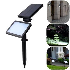 48 LED Solar Powered Lawn Lamp Spotlight Flood Lighting Outdoor Wall Landscape