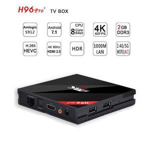SMART BOX H96 PRO PLUS 3GB+32GB OCTA CORE 4K ULTA HD 8.1v
