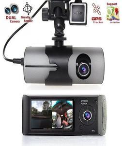 Car DVR Camera Video Recorder Dash Cam G-Sensor Dual Lens - Black