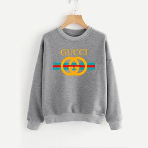Grey Printed Winter Sweatshirt