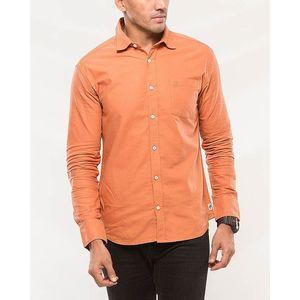 Denizen Orange Cotton Casual Shirt