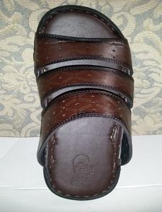 Dark Brown Synthetic Casual Slippers For Men