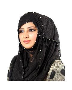 Pack of 2 - Black & Red Net Hijabs - PK006
