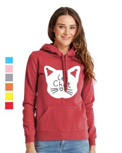 Rex Bazar - Red Le Chat Printed Hoodie For Women