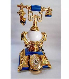 Desk Lamp & Clock - White and Gold