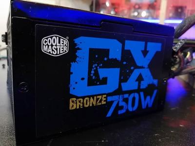 Cooler Master GX Bronze 750 Watt 80 Bronze PLUS Gaming Power Supply Energy Efficient