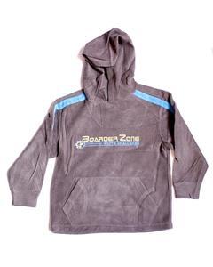 Boarder Zone Printed Fleece Hoodie For Boys