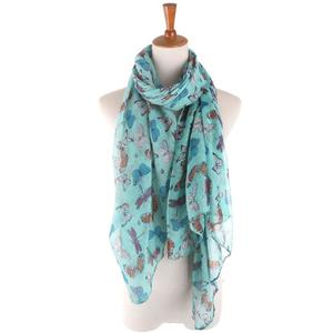 BlingBlingStarWomen Ladies Butterfly Print Pattern Long Scarf Warm Wrap Shawl