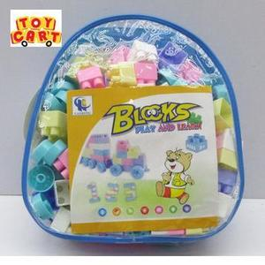 Blocks Bag 110 Pieces  School Bag