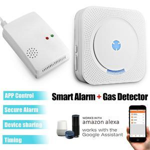 Smart WIFI Security Alarm + Gas Detector System For Alexa Echo Google Home