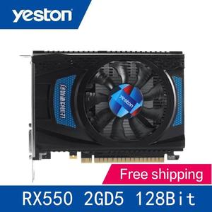 Yeston Radeon RX550 2GB GDDR5 128bit 1071MHz/6000MHz Gaming Graphics Cards Video Card