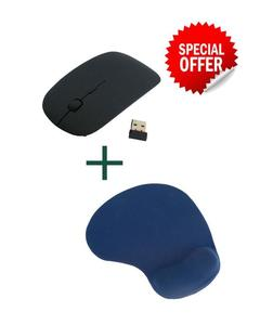 Pack of 2 Wireless Mouse+ Mouse Pad Wrest