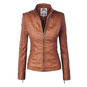 Womens Brown Suede Leather Jacket