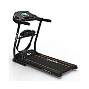 5 STEPSB2 - Motorized Treadmill (Massager + Twister Plate & Dumbbells) - 3.0HP - Black