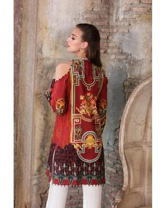 So Kamal Winter Collection  Maroon Dobby Printed 1PC -Unstitched Shirt DPF18 520  EF01179-STD-MRN