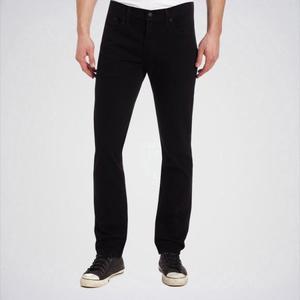 Men's Pure Black Slim Fit Jeans. Aj-Bl02