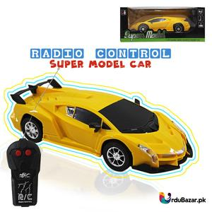 Radio Control Super Model Fast Speed 1:22 Scale Remote Control Yellow Electric RC Car Toy Best Gifts for Kids 3+ Ages