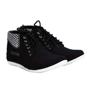 Shopping At Craze Black Cotton Casual Sneakers for Men