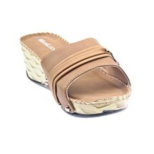 Maya TradersBrown Synthetic Leather Wedge for Women - QQ179