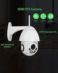 Mini Wireless WiFi IP Security Camera HD Wireless WiFi 1080P PTZ Security Camera Outdoor Waterproof Dome