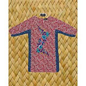 HueRed Cotton Embroidered Kurta For Girls