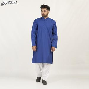 Cut Price Dark Shades Kurta Stitched Karhai for Men Royal Blue