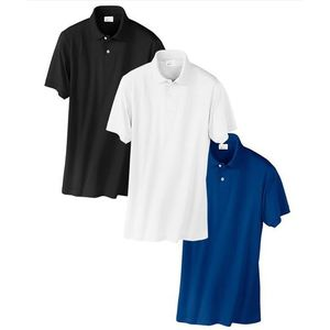 Pack Of 3 - Multicolour Poly Cotton Polo Shirts For Men